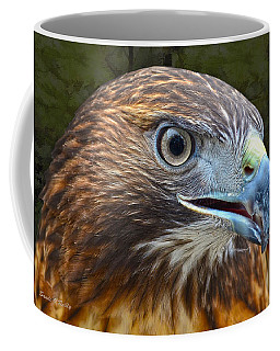 Red-tailed Hawk Portrait Coffee Mug