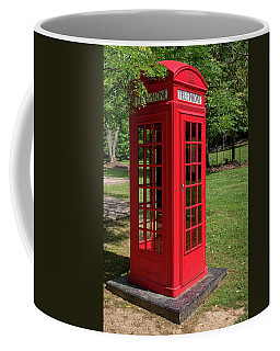 Coffee Mug featuring the photograph Red Telephone Box by Guy Whiteley