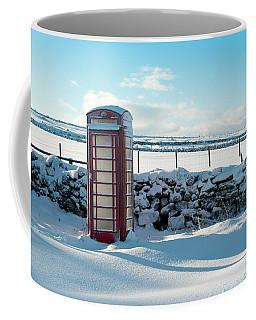 Red Telephone Box In The Snow V Coffee Mug