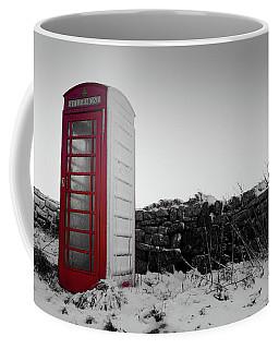 Red Telephone Box In The Snow Vi Coffee Mug