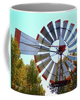 Coffee Mug featuring the photograph Red Tipped Windmill by Floyd Snyder