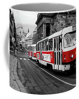 Prague - Red Tram Coffee Mug