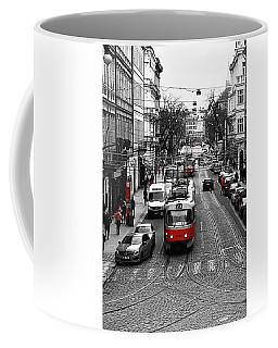 Red Tram Of Prague Coffee Mug