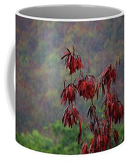 Red Tree In The Rain Coffee Mug