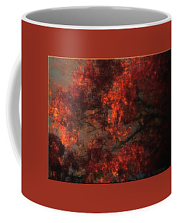 Red Tree Scene Coffee Mug by Mikki Cucuzzo