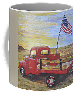 Coffee Mug featuring the painting Red Truck by Debbie Baker