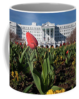 Red Tulip At The Greenbrier Coffee Mug by Laurinda Bowling