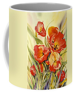 Red Tulips In My Garden Coffee Mug