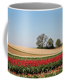 Red Tulips Landscape Coffee Mug