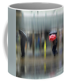 Coffee Mug featuring the photograph Red Umbrella by LemonArt Photography
