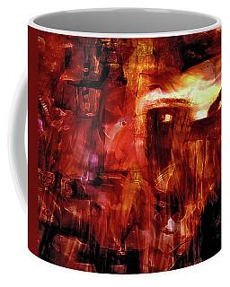 Coffee Mug featuring the photograph Red Veil by Linda Sannuti