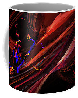 Red Waves Of Blues Coffee Mug
