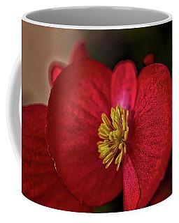 Red Wax Begonia Coffee Mug