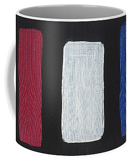 Red White And Blue Divided Coffee Mug by Phil Strang