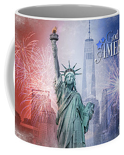 Red, White And Blue Coffee Mug