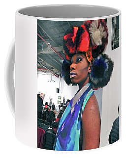 Red White  And Blue Goddess Coffee Mug
