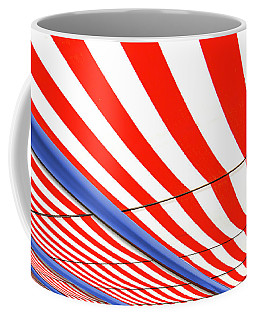 Coffee Mug featuring the photograph Red White And Blue by Paul Wear