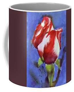 Red White Blue Patriotic Rose Coffee Mug