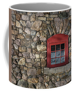 Coffee Mug featuring the photograph Red Window by Brad Wenskoski