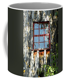 Coffee Mug featuring the photograph The Red Window by Sandi OReilly