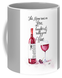 Coffee Mug featuring the digital art Red Wine by Colleen Taylor