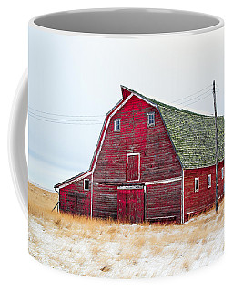 Red Winter Barn Coffee Mug
