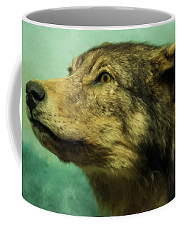 Coffee Mug featuring the digital art Red Wolf Digital Art by Chris Flees