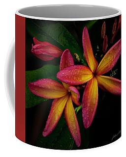 Red/yellow Plumeria In Bloom Coffee Mug