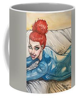 Redhead In Blue  Coffee Mug by Jimmy Adams