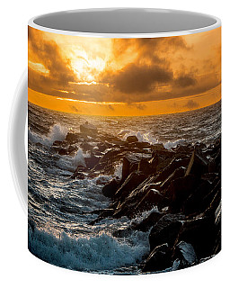 Redondo Beach Sunset Coffee Mug by Ed Clark
