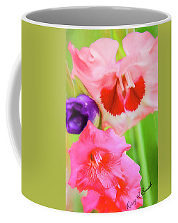 Red,pink And Purple Gladiolas. Coffee Mug