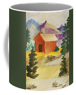 Coffee Mug featuring the painting Redwood Barn by Maria Urso