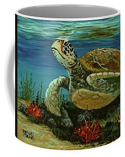 Coffee Mug featuring the painting Reef Honu by Darice Machel McGuire