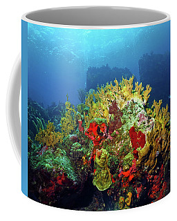 Reef Scene With Divers Bubbles Coffee Mug