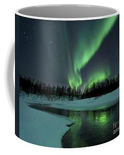 Reflected Aurora Over A Frozen Laksa Coffee Mug