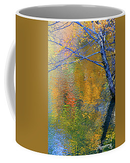 Coffee Mug featuring the photograph Reflecting Autumn by Mariarosa Rockefeller