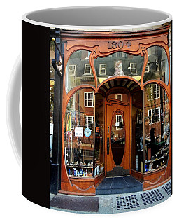 Reflecting On A Cambridge Shoe Shine Coffee Mug