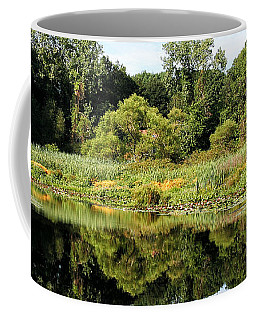 Coffee Mug featuring the photograph Reflecting On A Summer Morning by William Selander