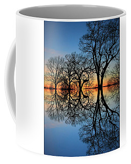Coffee Mug featuring the photograph Reflecting On Tonight by Chris Berry