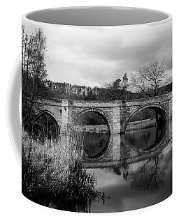 Reflecting Oval Stone Bridge In Blanc And White Coffee Mug