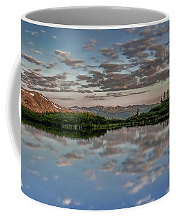 Coffee Mug featuring the photograph Reflection In A Mountain Pond by Don Schwartz