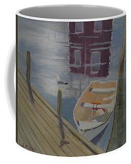 Reflection In Red Coffee Mug