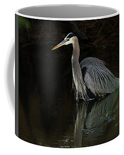 Coffee Mug featuring the photograph Reflection Of A Heron by George Randy Bass