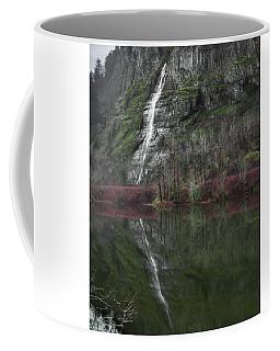 Reflection Of A Waterfall Coffee Mug