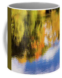 Reflection Of Fall #2, Abstract Coffee Mug