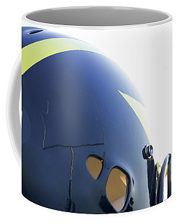 Reflection Of Goal Post In Wolverine Helmet Coffee Mug