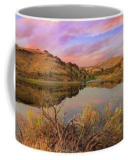 Reflection Of Scenic High Desert Landscape In Central Oregon Coffee Mug