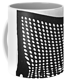 Coffee Mug featuring the photograph Reflection On 42nd Street 3 Grayscale by Sarah Loft