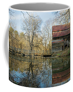 Coffee Mug featuring the photograph Reflection On A Grist Mill by George Randy Bass
