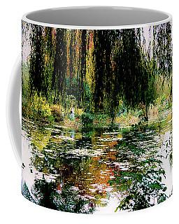 Reflection On Oscar - Claude Monet's Garden Pond Coffee Mug
